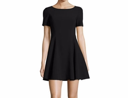 Wide Crewneck Fit-&-Flare Dress by Halston Heritage in House of Cards