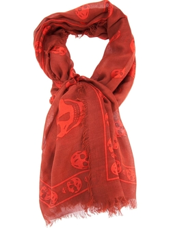 Skull Print Scarf by Alexander Mcqueen in The Hateful Eight