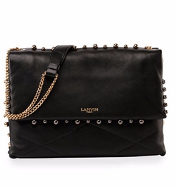 Sugar Medium Studded Shoulder Bag by Lanvin in Empire