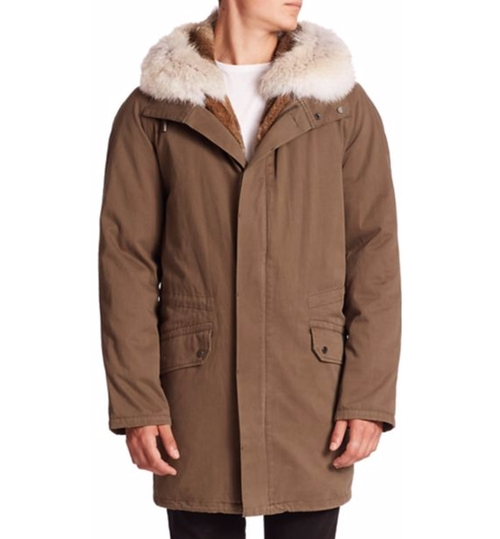 Classic Fur-Trimmed Parka Coat by Yves Salomon in Wonder Woman