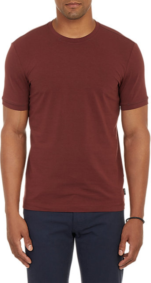 Stretch T-Shirt by Armani Collezioni in Rosewood