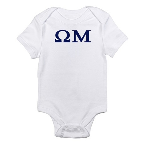 Omega Mu Homecoming Infant Bodysuit by Cafe Press in Neighbors