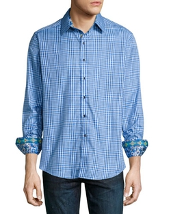 Ocean Liners Check Sport Shirt by Robert Graham in Modern Family
