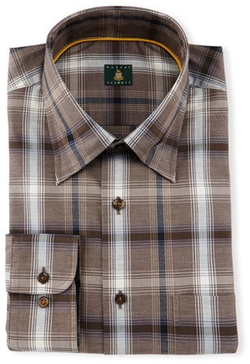 Plaid Woven Dress Shirt by Robert Talbott in Ted 2