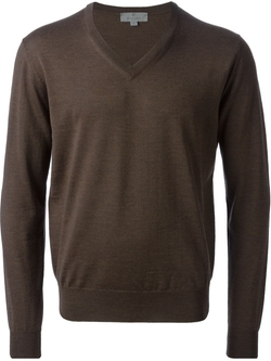 V-Neck Sweater by Canali in No Strings Attached