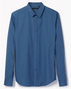 Blue Zack PS Shirt by Theory in Pitch Perfect 2