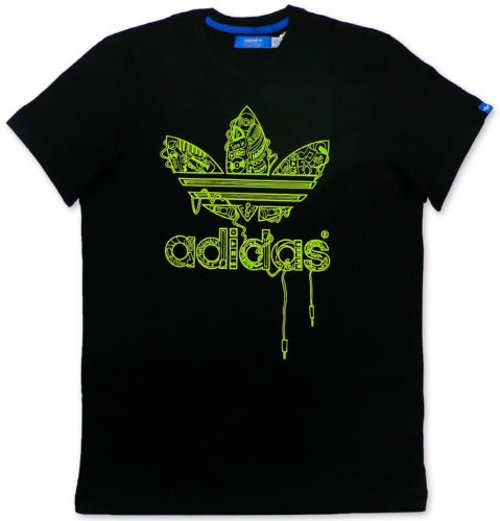 "Originals ""G Music Trefoil Tee"" Men's Music Loto T-Shirt by Adidas in Begin Again"