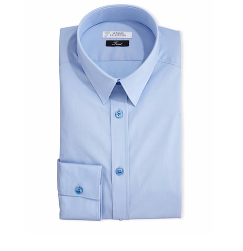 Button-Front Solid Dress Shirt by Versace in Ballers