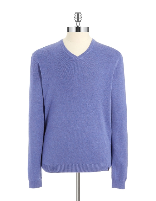 V-Neck Sweater by Calvin Klein in Dope