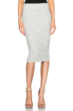 Heavy Rib Skinny Skirt by James Perse in Suits