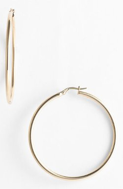 Gold Hoop Earrings by Roberto Coin in Run All Night