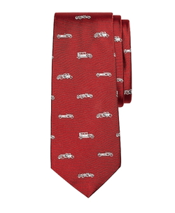 Novelty Vintage Car Silk Tie by Brooks Brothers in American Horror Story