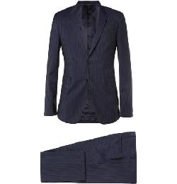 NAVY KENSINGTON SLIM-FIT PINSTRIPE COTTON SUIT by PAUL SMITH LONDON in The Wolf of Wall Street