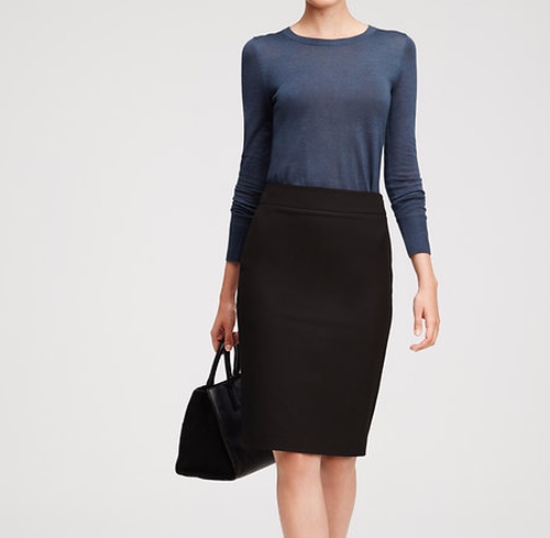 All Season Stretch Pencil Skirt by Ann Taylor in The Boss