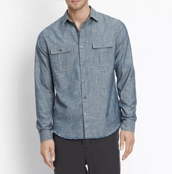 Distressed Utility Shirt by Vince in American Made