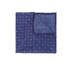 Polka Dot Checked Pocket Square by Brunello Cucinelli in The Boss