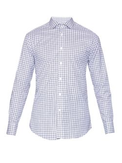 Checked Cotton Shirt by Gieves & Hawkes in The Martian