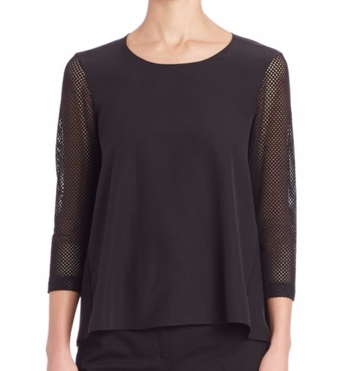 Silk-Front Trapeze Top by Akris Punto in Keeping Up With The Kardashians - Season 12 Episode 13
