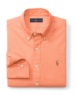 Slim-Fit Stretch Oxford Shirt by Ralph Lauren in Inherent Vice