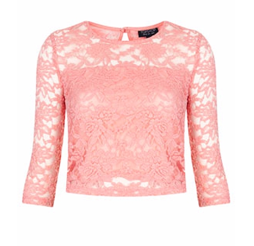1/2 Sleeve Floral Lace Top by Topshop in Love, Rosie
