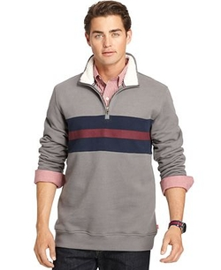 Suede Fleece Quarter-Zip Pullover by Izod in Eddie The Eagle