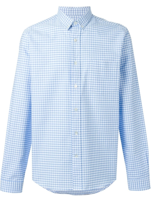 Gingham Check Shirt by Ami Alexandre Mattiussi in The Big Short
