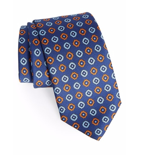 Medallion Silk Tie by Robert Talbott in House of Cards - Season 4 Episode 3