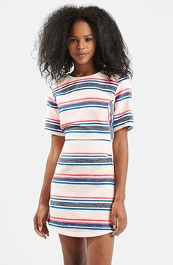 Stripe Jacquard A-Line Dress by Topshop in Pretty Little Liars