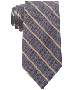 Glimmer Bar Stripe Slim Tie by Calvin Klein in Elementary