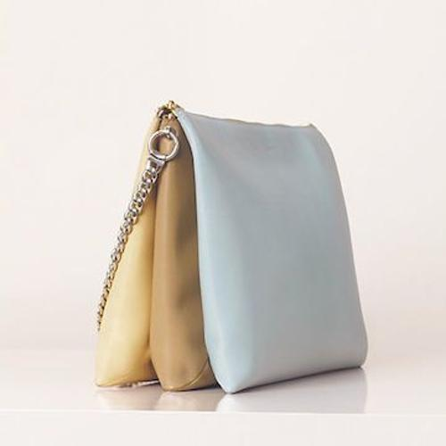 Soft Trio Zipped Bag In Lambskin Glacier by Céline in The Other Woman