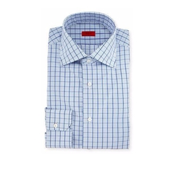 Box Check Mitered-Cuff Dress Shirt by Isaia in Jason Bourne