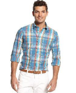 Camden Plaid Shirt by Tommy Hilfiger in Blended