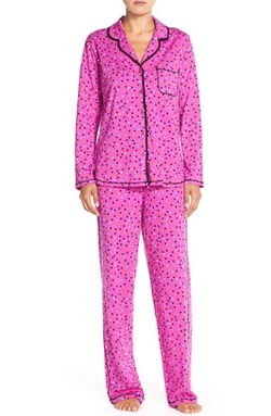 Print Jersey Pajama Set by DKNY in Black-ish