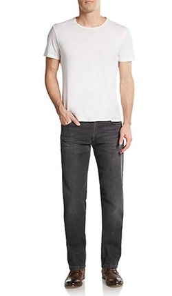 Dark Washed Straight-Leg Jeans by Saks Fifth Avenue Collection in Grease
