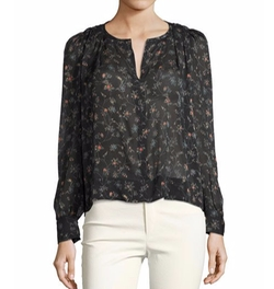 Split-Neck Floral-Print Blouse by Isabel Marant in House of Cards