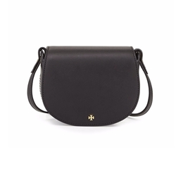 Mini Leather Saddle Bag by Tory Burch in New Girl
