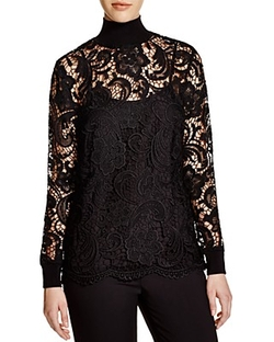 Knit and Lace Turtleneck Blouse by Dylan Gray in American Horror Story