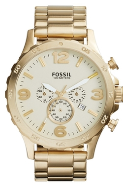 Nate Chronograph Bracelet Watch by Fossil in Warm Bodies