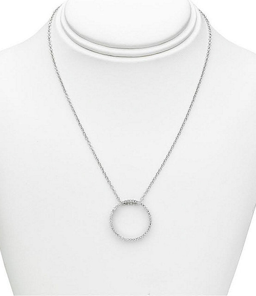 Open Circle Pave Pendant by Dillard´s Exclusive in Suits