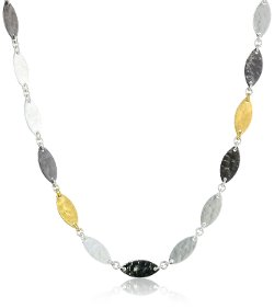 """Willow"" Silver with High Karat Gold Accents Necklace by Gurhan in Crazy, Stupid, Love."