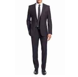 'Huge/Genius' Trim Fit Solid Wool Suit by Boss in Suits