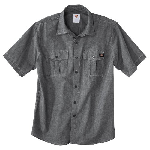 Men's Short Sleeve Button Down by Dickies in The Boy Next Door