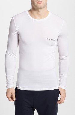 Cotton Long Sleeve T-Shirt by Emporio Armani in That Awkward Moment