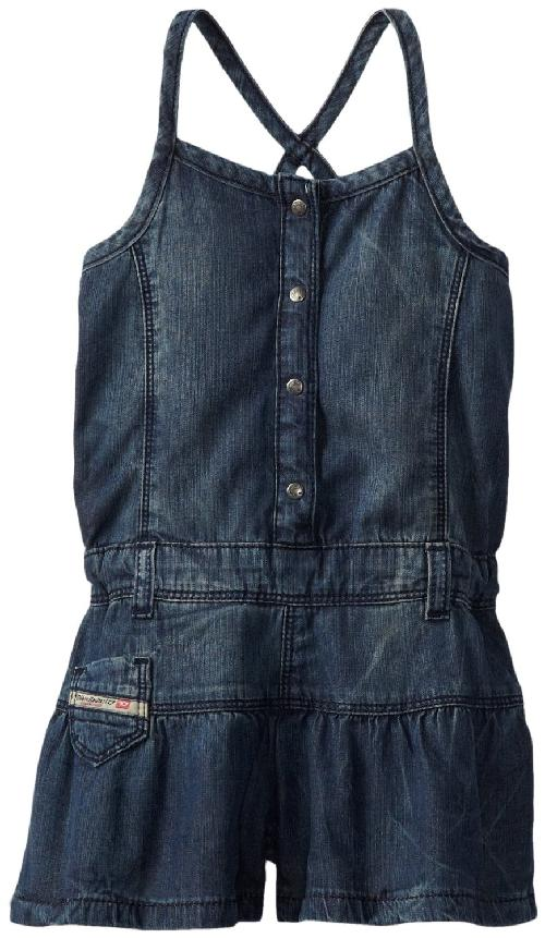 Baby-Girls Infant Jesta Lightweight Denim Short Overall by Diesel in Neighbors
