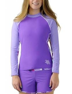 Women's UPF 50+ UV Sun Protective Long Sleeve Rashguard Top by Tuga Sunwear in Dolphin Tale 2