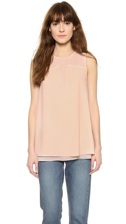 Keira Ladder Stitch Shell Top by Cooper & Ella in Paper Towns