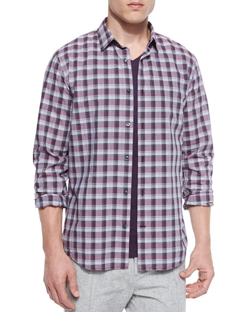 Melange Plaid Sport Shirt by Vince in Imaginary Mary - Season 1 Preview