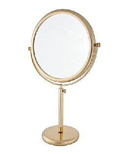 Vanity Stand Brass Double-Side Mirror by Frasco Mirrors in Neighbors