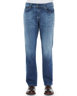 Carolina Vintage Denim Jeans by Fidelity in Cut Bank
