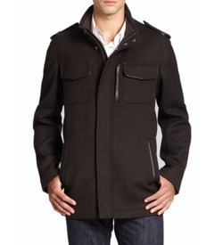 Modern Twill Military Jacket by Cole Haan in The Flash